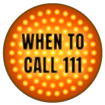 traffic light - when to call 111