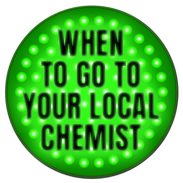 traffic light - when to go to local chemist